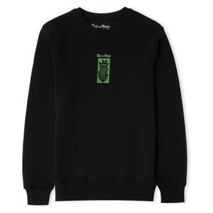 Rick and Morty Warped Head Unisex Sweatshirt - Black