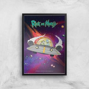 Rick and Morty Rocket Adventure Giclee Art Print