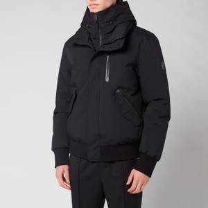 Mackage Men's Dixon Down Bomber Jacket with Removable Hooded Bib - Black
