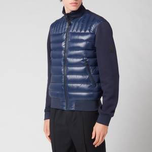 Mackage Men's Collin Bomber Jacket With Quilted Down Front Body - Navy