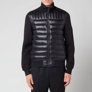 Mackage Men's Collin Bomber Jacket with Quilted Down Front Body - Black
