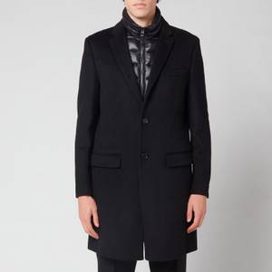 Mackage Men's Skai Wool 3 In 1 Coat with Removable Bib and Down Liner - Black