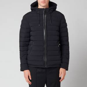 Mackage Men's Mike Stretch Lightweight Down Jacket with Hood - Black