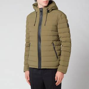 Mackage Men's Mike Stretch Lightweight Down Jacket With Hood - Olive