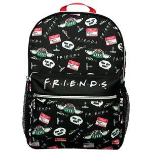 Friends Black AOP Backpack