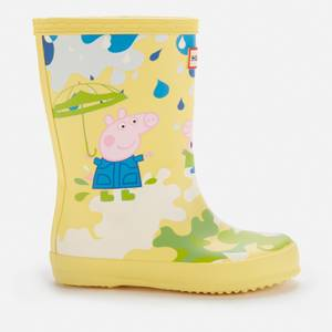 Hunter X Peppa Pig Kids' First Classic Muddy Puddles Wellington Boots - Yarrow