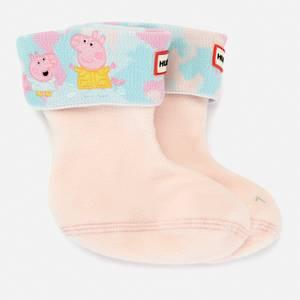 Hunter X Peppa Pig Kids' Boot Sock - Rose Metal