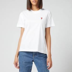 AMI Women's De Coeur T Shirt - White