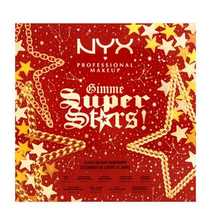 NYX Professional Makeup Gimme Super Stars! 24 Day Advent Countdown Calendar (Worth £106.25)