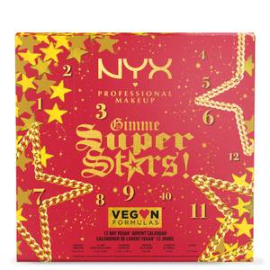 NYX Professional Makeup Gimme Super Stars! 12 Day Vegan Iconic Advent Countdown Calendar (Worth £61.00)
