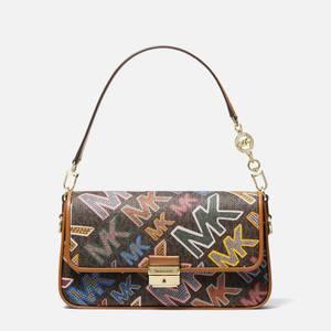 MICHAEL Michael Kors Women's Bradshaw Shoulder Bag Grafitti - Brown Multi