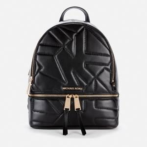 MICHAEL Michael Kors Women's Rhea Backpack Quilted Logo - Black
