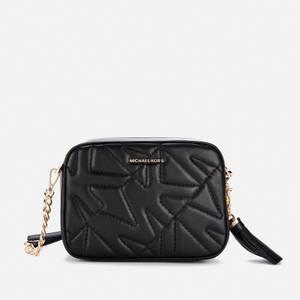 MICHAEL Michael Kors Women's Jet Set Camera Bag Quilted Bag - Black