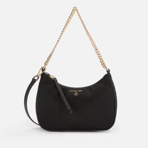 MICHAEL Michael Kors Women's Jet Set Charm Nylon Pouchette Crossbody Bag - Black