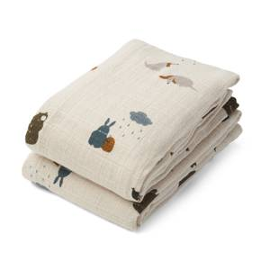 Liewood Lewis Muslin Cloth 2-Pack - Friendship Sandy Mix - One Size