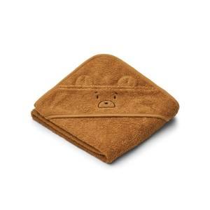 Liewood Albert Baby Hooded Towel - Mr Bear Golden Caramel - One Size
