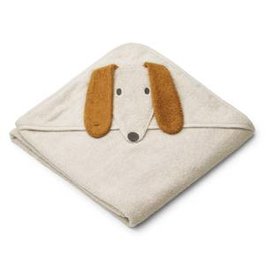 Liewood Augusta Hooded Towel - Dog Sandy - One Size