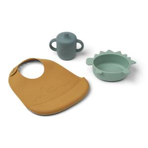 Liewood Connor Baby Dining Set - Dino Peppermint Multi Mix - One Size