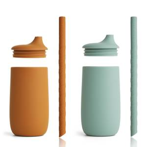 Liewood Dylan Cup 2-Pack - Mustard Peppermint Mix - One Size