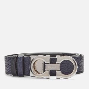 Salvatore Ferragamo Women's Gancini Reversible Belt 35mm Mirto