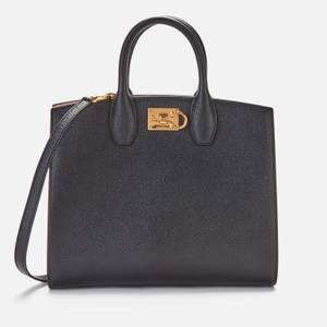 Salvatore Ferragamo Women's The Studio Box Tote Bag - Black
