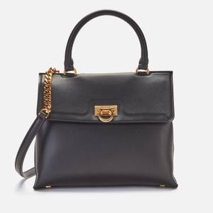 Salvatore Ferragamo Women's Trifolio Top Handle Bag - Nero