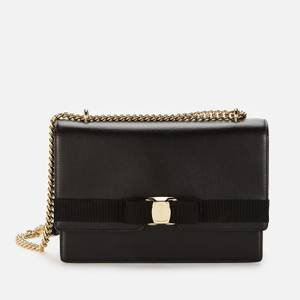 Salvatore Ferragamo Women's Vara Gros Grain Bag - Black