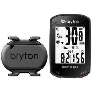 Bryton Rider 15C Neo GPS Cycle Computer Bundle With Cadence