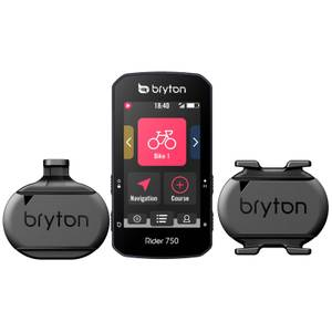 Bryton Rider 750T GPS Cycle Computer Bundle With Speed/Cadence & Heart Rate