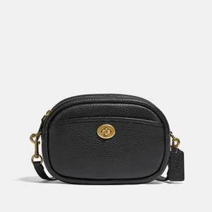 Coach Women's Soft Pebble Leather Camera Bag - Black