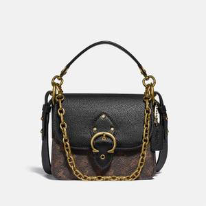 Coach Women's Horse And Carriage Coated Canvas Shoulder Bag - Black