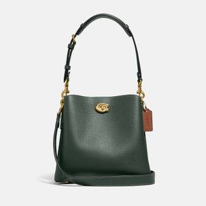 Coach Women's Colorblock Leather Willow Bucket Bag - Green Multi