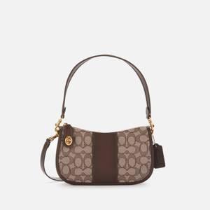 Coach Women'sSignature Jacquard Swinger Bag - Oak Maple