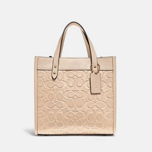 Coach Women's Signature Leather Field Tote Bag 22 - B4/Ivory