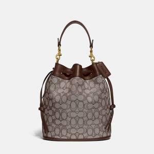 Coach Women's Signature Jacquard Field Bucket Bag - B4/Oak Maple