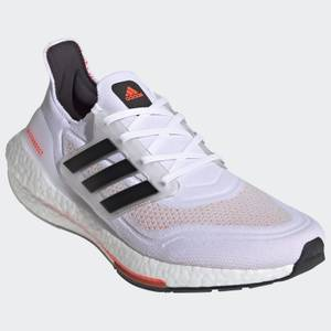 adidas Ultra Boost 21 Running Shoes - Ftwr White/Core Black/Solar Red