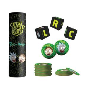 LEFT RIGHT CENTER: Rick and Morty Dice Game