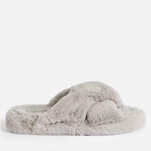 Ted Baker Women's Lopply Cross Front Slippers - Light Grey