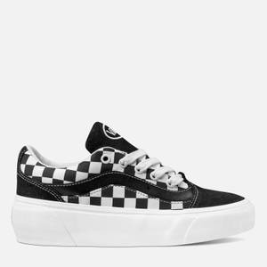 Vans Women's Checkerboard Shape Ni Trainers - Black/Metallic