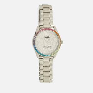 Coach Women's Preston Rainbow Crystal Watch - Silver