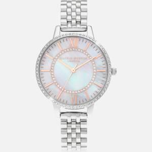 Olivia Burton Women's Wonderland Watch - White & Silver