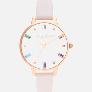 Olivia Burton Women's Rainbow Collection Watch - White & Rose Gold