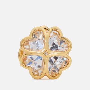 Kate Spade New York Women's Sparkly Spade Studs - Clear/Gold