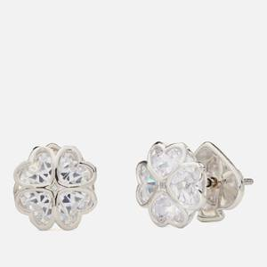 Kate Spade New York Women's Sparkly Spade Studs - Clear/Silver