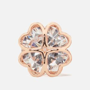 Kate Spade New York Women's Sparkly Spade Studs - Clear/Rosegold