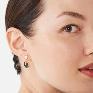 Kate Spade New York Women's Spade Flower Drop Earrings - Black/Gold
