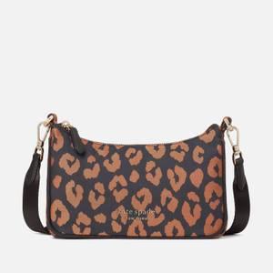 Kate Spade New York Women's Sam The Little Better Leopard – Cross Body Bag - Black Multi