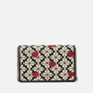 Kate Spade New York Women's Spade Flower Wallet Chain - Black Multi
