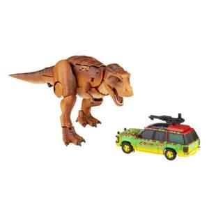 Hasbro Transformers Collaborative: Jurassic Park Mash-Up, Tyrannocon Rex & Autobot JP93 Action Figure