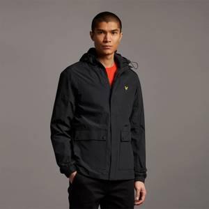 Hooded Pocket Jacket - Jet Black - Plus